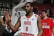 DESCRIZIONE: Varese FIBA Europe cup 2015-16 <br /> Openjobmetis Varese vs Sodertalje Kings<br /> GIOCATORE: Brandon Davies<br /> CATEGORIA: postgame esultanza<br /> SQUADRA: Openjobmetis Varese<br /> EVENTO: FIBA Europe Cup 2015-2016<br /> GARA: EA7 Openjobmetis Varese Sodertalje Kings<br /> DATA: 22/12/2015<br /> SPORT: Pallacanestro<br /> AUTORE: Agenzia Ciamillo-Castoria/A. Ossola<br /> Galleria: FIBA Europe Cup 2015-2016<br /> Fotonotizia: Varese FIBA Europe Cup 2015-16 <br /> Openjobmetis Varese Sodertalje Kings