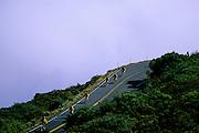 Biking down above the clouds - Haleakala N.P., Maui.