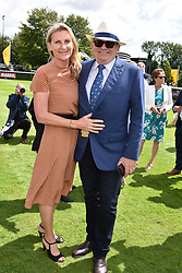 29 July 2021 - The QATAR Goodwood Festival Ladies Day at Goodwood Racecourse, West Sussex.<br /> Picture Shows - Lord Michael Spencer &  Lady Spencer.<br /> <br /> NON EXCLUSIVE - WORLD RIGHTS