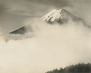 Okada Koyo<br /> Mt. Fuji in the mist<br /> Date: 1940s - mid 1950s<br /> <br /> Description: Vintage or near vintage, double weight, gelatin silver print, with smooth semi-matte surface, unsigned.<br /> <br /> Condition: print has some loss of details in the highlights, and a small amount of overall color shifting.<br /> <br /> Size: 10 1/4 in. x 8 1/4 in. (260 mm x 210 mm).<br /> <br /> Sale price: ¥35,000<br /> <br /> <br /> <br /> <br /> <br /> <br /> <br /> <br /> <br /> <br /> <br /> <br /> <br /> <br /> <br /> <br /> <br /> <br /> <br /> <br /> <br /> <br /> <br /> <br /> <br /> <br /> <br /> <br /> <br /> <br /> <br /> <br /> <br /> <br /> <br /> <br /> <br /> <br /> <br /> <br /> <br /> <br /> <br /> <br /> <br /> <br /> <br /> <br /> <br /> <br /> <br /> <br /> <br /> <br /> <br /> <br /> <br /> <br /> <br /> <br /> <br /> <br /> <br /> <br /> <br /> <br /> <br /> <br /> <br /> <br /> <br /> <br /> <br /> <br /> <br /> <br /> <br /> <br /> <br /> <br /> <br /> <br /> .