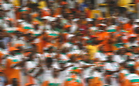 Photo: Steve Bond/Richard Lane Photography.<br />Nigeria v Ivory Coast. Africa Cup of Nations. 21/01/2008. The colour of the Ivory Coast fans