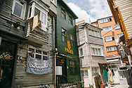 Pages bookshop and cafe, in a fully restored traditional building in Fatih neighbourhood, Istanbul, Turkey.