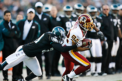 Washington Redskins wide receiver Antwaan Randle El #82 carries the ball during the NFL game between the Washington Redskins and the Philadelphia Eagles on November 29th 2009. The Eagles won 27-24 at Lincoln Financial Field in Philadelphia, Pennsylvania. (Photo By Brian Garfinkel)