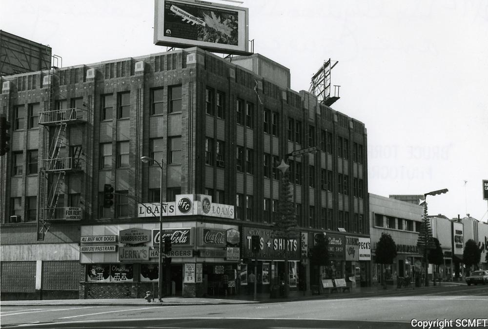 1972 SW corner of Hollywood Blvd. & Cahuenga Blvd.