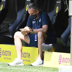 27.06.2020, xmeix, 1.Fussball Bundesliga, Borussia Dortmund - TSG 1899 Hoffenheim, empor. v.l.n.r, <br /> Hoffenheims Pressesprecher Holger Kliem<br /> <br /> <br /> <br /> Foto: Sascha Meiser/APF/Pool/PIX-Sportfotos<br /> <br /> Nur für journalistische Zwecke!<br /> Only for editorial use!<br /> Nutzungsbedingungen: http://poolbilder.de/nutzungsvereinbarung.pdf<br /> <br /> Foto © PIX-Sportfotos *** Foto ist honorarpflichtig! *** Auf Anfrage in hoeherer Qualitaet/Aufloesung. Belegexemplar erbeten. Veroeffentlichung ausschliesslich fuer journalistisch-publizistische Zwecke. For editorial use only. DFL regulations prohibit any use of photographs as image sequences and/or quasi-video.
