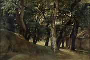 Woods of the Villa Borghese, Rome'.  Pierre de Valenciennes (1750-1819) French artist.