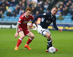 March 30, 2018 - London, England, United Kingdom - Jed Wallace of Millwall.during Championship match between Millwall against Nottingham Forest at The Den stadium, London  England on 30 March  2018. (Credit Image: © Kieran Galvin/NurPhoto via ZUMA Press)