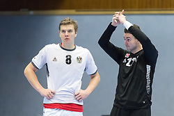 07.01.2017, BSFZ Suedstadt, Maria Enzersdorf, AUT, IHF Junior WM 2017 Qualifikation, Österreich vs Tschechische Republik, im Bild Sebastian Spendier (AUT), Boris Tanic (AUT) // during the IHF Men's Junior World Championships qualifying match between Austria and Czech Republic at the BSFZ Suedstadt, Maria Enzersdorf, Austria on 2017/01/07, EXPA Pictures © 2017, PhotoCredit: EXPA/ Sebastian Pucher