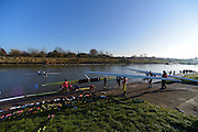 Boston, Great Britain. General Views, Boat Boston Rowing Club Boat Storage/racks and Pontoon. GBRowing second assessment, Boston Rowing Club, River Witham, Lincolnshire.     Saturday  09/02/2013   [Mandatory Credit. Peter Spurrier/Intersport Images]