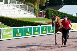 Lauren Barwick, (CAN), Off To Paris - Horse Inspection Para Dressage - Alltech FEI World Equestrian Games™ 2014 - Normandy, France.<br /> © Hippo Foto Team - Jon Stroud<br /> 25/06/14