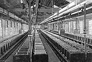 Manufacture of electric batteries:  MWJ Jenks's Electrical Accumulator Company, New York, USA. Engraving 1887