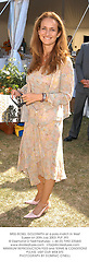 MISS ISOBEL GOLDSMITH at a polo match in West Sussex on 20th July 2003.PLP 393