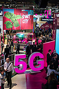 Tuesday 25th, 2019. BARCELONA, SPAIN. T Mobile stand. 5G technology has been the star in this edition of the Mobile World Congress Barcelona (photo Edu Bayer)