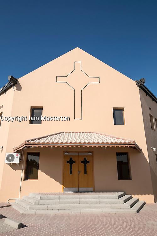 Exterior view of Dubai Evangelical Church Centre at Jebel Ali in Dubai United Arab emirates