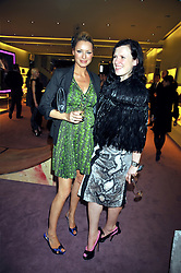 left to right, TESS DALY and KATIE GRAND at a party to celebrate the opening of the newly refurbished Prada Store 16/18 Old Bond Street, London on 16th February 2009.