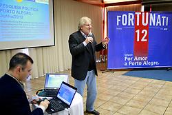 Denis Rosenfield apresenta pesquisa política durante reunião do Conselho Político da campanha de José Fortunati. FOTO: Jefferson Bernardes/Preview.com