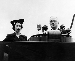 File photo dated 04/11/51 of Queen Elizabeth II and the then US President Harry Truman on Washington D.C.