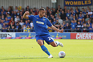 AFC Wimbledon defender Rod McDonald (26) passing the ball during the EFL Sky Bet League 1 match between AFC Wimbledon and Scunthorpe United at the Cherry Red Records Stadium, Kingston, England on 15 September 2018.