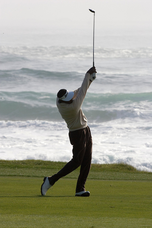 Vijay Singh on the 18th at the 2010 AT&T Pebble Beach Pro Am.