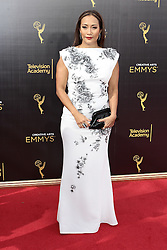 .Carrie-Ann Inaba  attends  2016 Creative Arts Emmy Awards - Day 2 at  Microsoft Theater on September 11th, 2016  in Los Angeles, California.Photo:Tony Lowe/Globephotos