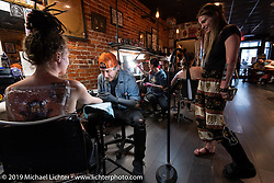 Victory Tattoo shop on Main Street during Daytona Beach Bike Week, FL. USA. Saturday, March 16, 2019. Photography ©2019 Michael Lichter.