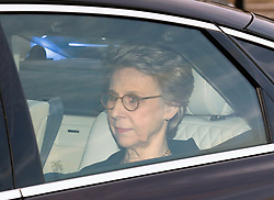 Birgitte, Duchess of Gloucester arrives for the Queen's Christmas lunch at Buckingham Palace, London.