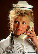 Medical, Traditional Nurse with Phone