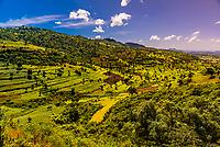 Mountainous landscape, North Gondar, Ethiopia.