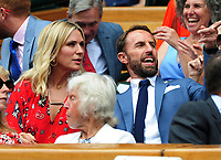 Tennis - 2019 Wimbledon Championships - Week One, Saturday (Day Six)<br /> <br /> Mens Singles, 3rd Round <br /> Sports Men and Women in the Royal Box on Centre Court<br /> <br /> England Manager Gareth Southgate with his wife,Alison<br /> <br /> COLORSPORT/ANDREW COWIE