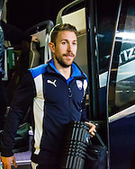 Angel Martinez of Chesterfield getting off the coach before the Sky Bet League 1 match at The Den, London<br /> Picture by Richard Brooks/Focus Images Ltd 07947656233<br /> 21/02/2017