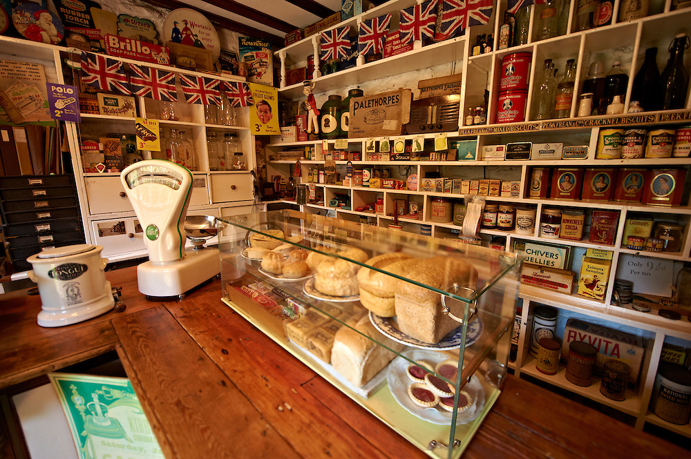 Inside of the Village store at  Ryedale Folk Museum, Hutton Le Hole, North Yorks Moors National Park, Yorkshire, England .<br /> <br /> Visit our ENGLAND PHOTO COLLECTIONS for more photos to download or buy as wall art prints https://funkystock.photoshelter.com/gallery-collection/Pictures-Images-of-England-Photos-of-English-Historic-Landmark-Sites/C0000SnAAiGINuEQ