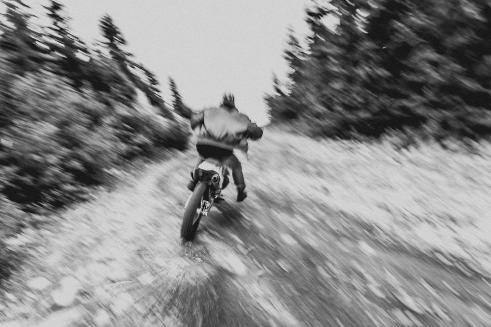 Backcountry enduro bike photoshoot for Ransom Holding Co footwear brand.