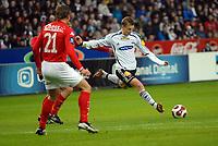 Fotball tippeligaen 290407 Rosenborg - Brann<br /> Marek Sapara setter inn 1-0<br /> Foto: Carl-Erik Eriksson, Digitalsport