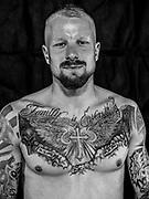 BOXEN / MMA: Studio, Portrait of a Boxer, Bremen, 12.05.2018<br /> Ricardo Zygrodnik<br /> © Torsten Helmke