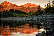First sunlight hits Chief Joseph Mountain, located in the Wallowa Mountains, Oregon.