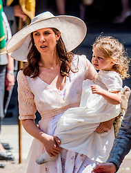 Andrea Casiraghi's wife Tatiana Santo Domingo with her daughter India Casiraghi at the wedding ceremony of heir of the throne of German House of Hanover, Prince Ernst August Jr. of Hanover, Duke of Braunscshweig and Lueneburg, and Russian designer Ekaterina Masysheva at the Marktkirche church in Hanover, Germany, 08 July 2017. The son of Prince Ernst August of Hanover Sen., who is married to Princess Caroline of Monaco, is related to several royal houses in Europe. The House of Hanover is a German royal dynasty that also ruled the United Kingdom between. Ernst-August Sr.'s own father (Ernst-August IV) opposed his son's marriage to first wife Chantal, a Swiss commoner. Photo by Robin Utrecht/ABACAPRESS.COM