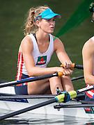 Henley Royal Regatta, Henley on Thames, Oxfordshire, 28 June - 2 July 2017.  Friday  10:15:22   30/06/2017  [Mandatory Credit/Intersport Images]<br /> <br /> Rowing, Henley Reach, Henley Royal Regatta.<br /> <br /> The Women's Double Sculls<br />  L.T. Tarantola (Club France, France)