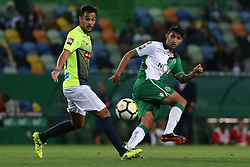September 19, 2017 - Lisbon, Lisbon, Portugal - Sportings forward Bryan Ruiz from Costa Rica (R) and Maritimo's midfielder Filipe Oliveira from Portugal (L) during the Portuguese Cup 2017/18 match between Sporting CP v CS Maritimo, at Alvalade Stadium in Lisbon on September 19, 2017. (Credit Image: © Dpi/NurPhoto via ZUMA Press)