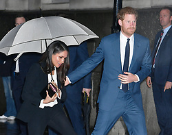 File photo dated 1/2/2018 of Prince Harry and Meghan Markle arrive to attend the annual Endeavour Fund Awards at Goldsmiths' Hall in London, to celebrate the achievements of wounded, injured and sick servicemen and women who have taken part in sporting and adventure challenges. Almost 70 years ago an abdicated king returned from the US for a royal funeral, while his American wife was absent. Issue date: Thursday April 15, 2021.