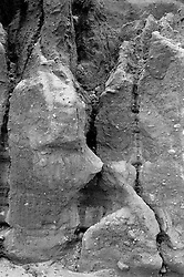 detail of a rock formation in Montauk