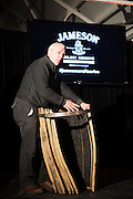 5th Generation Jameson Master Cooper Ger Buckley  at The Jameson Black Barrel Craft Series  at Old printing works, Market Street with music by Corner boy.  Photo:Andrew Downes