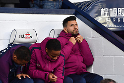 Manchester City's Sergio Aguero on the bench during the Premier League match at The Hawthorns, West Bromwich.