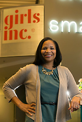 Julayne Virgil, the chief executive officer of Girls Incorporated of Alameda County, poses for a photograph at the organization's offices in downtown Oakland, Calif., Tuesday, Nov. 7, 2017. (Photo by D. Ross Cameron)