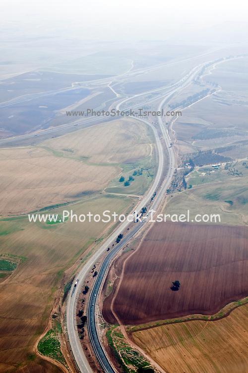 Aerial Photography of the Negev Desert landscape, Israel