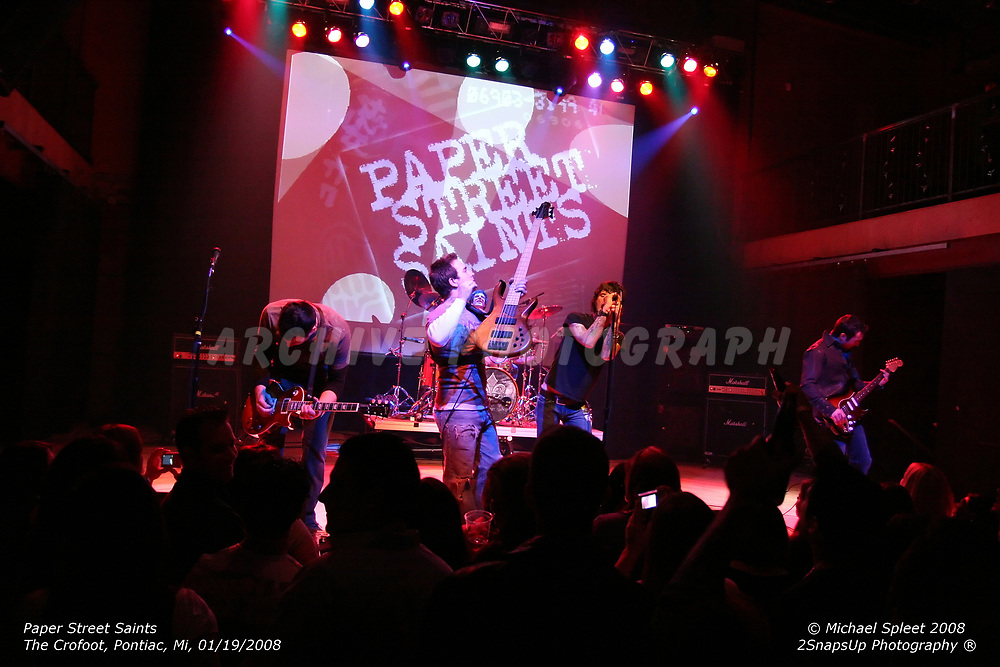 PONTIAC, MI, SUNDAY, JAN. 20, 2008: Paper Street Saints,  at The Crofoot, Pontiac, MI, 01/20/2008. (Image Credit: Michael Spleet / 2SnapsUp Photography)