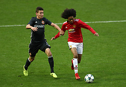 Manchester United's Tahith Chong (right) and CSKA Moscow's Ruslan Fischenko battle for the ball