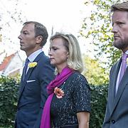 NLD/Den Haag/20190822 - Uitvaart Prinses Christina, Prinses Carolina met partner Albert Brenninkmeijer en Prins Pieter-Christiaan
