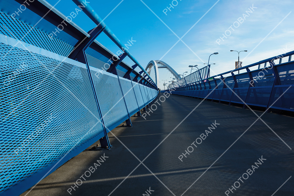 Walkway on apollo bridge in Bratislava