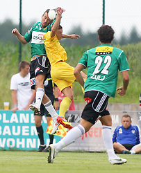 22.06.2012, Sportplatz SK Kammer, Kammer, AUT, 1. FBL, Testspiel, SV Josko Ried vs MSK Zilina, im Bild Robert Pich, (MSK Zilina, #17) und Mario Reiter, (SV Josko Ried, #23)// Robert Pich, (MSK Zilina, #17) und Mario Reiter, (SV Josko Ried, #23) during Preparation Game for the 1. FBL between SV Josko Ried and MSK Zilina at the Sportplatz SK Kammer, Kammer, Austria on 2012/06/22 . EXPA Pictures © 2012, PhotoCredit: EXPA/ R. Hackl