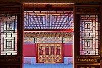 Chine, Pékin (Beijing), Cité Interdite, classée Patrimoine Mondial de l'UNESCO, palais de la Compassion et de la Tranquilité // China, Beijing, Forbidden City, Palace of Compassion and Tranquility